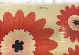 1960s Home Decor Decals Red Orang Flower Hippie Mod Vintage Meyercord NI... - $5.59
