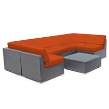 Outdoor Wicker Sectional Sofa Aluminum Patio Rattan Couch Sofa Set Sun L... - $1,195.00