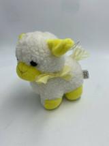 Commonwealth White Yellow Sheep Lamb Squeaky Noise Plush Small Vintage 1988 - $69.99