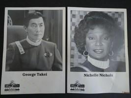 1989 Disney MGM Studios Photos George Takei & Nichelle Nichols - Star Trek - $19.99