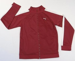 Puma Dark Red & White Zip Front Track Jacket Youth Boys NWT - $29.99
