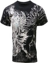 Men's Graphic Designer Eagle Allover Muscle T-Shirt M Black 724-BK - $17.95