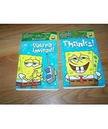 8 Spongebob Squarepants Party Invitations & Thank You Cards & Envelopes New - $12.00