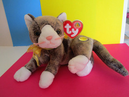 CAPPUCCINO CAT KITTEN,  TY BEANIE BABIES PLUSH stuffed TOY, mint tag - $6.50