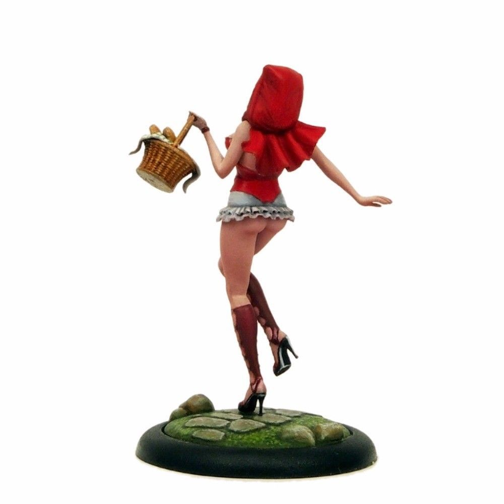 54MM sexy figures Little Red Riding Hood Resin Model Kit Free Shipping