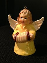 1979 Fourth Edition Angel Bell Annual Christmas Tree Ornament by Goebel - Yellow - $14.80