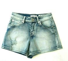 Indigo Rein Juniors Shorts Size 0 Distressed Booty Stretch Light Wash De... - $14.52