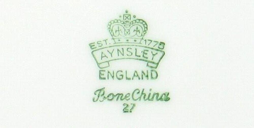VINTAGE AYNSLEY BONE CHINA BLUE BACHELOR BUTTONS CUP SAUCER DESERT PLATE ENGLAND image 5