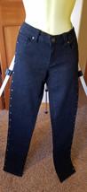 Bongo black studded skinny jeans goth rocker pants sz 5 S stretch womans... - $9.99