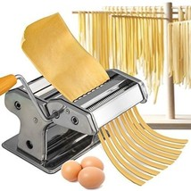 Pasta Noodle Maker Machine Spaghetti Fresh Roller Stainless Steel Kitche... - $40.82