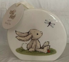 Jellycat Money Box Coin Bank Bone China Baby Rabbit Dragonflies Ladybugs NEW - $39.59