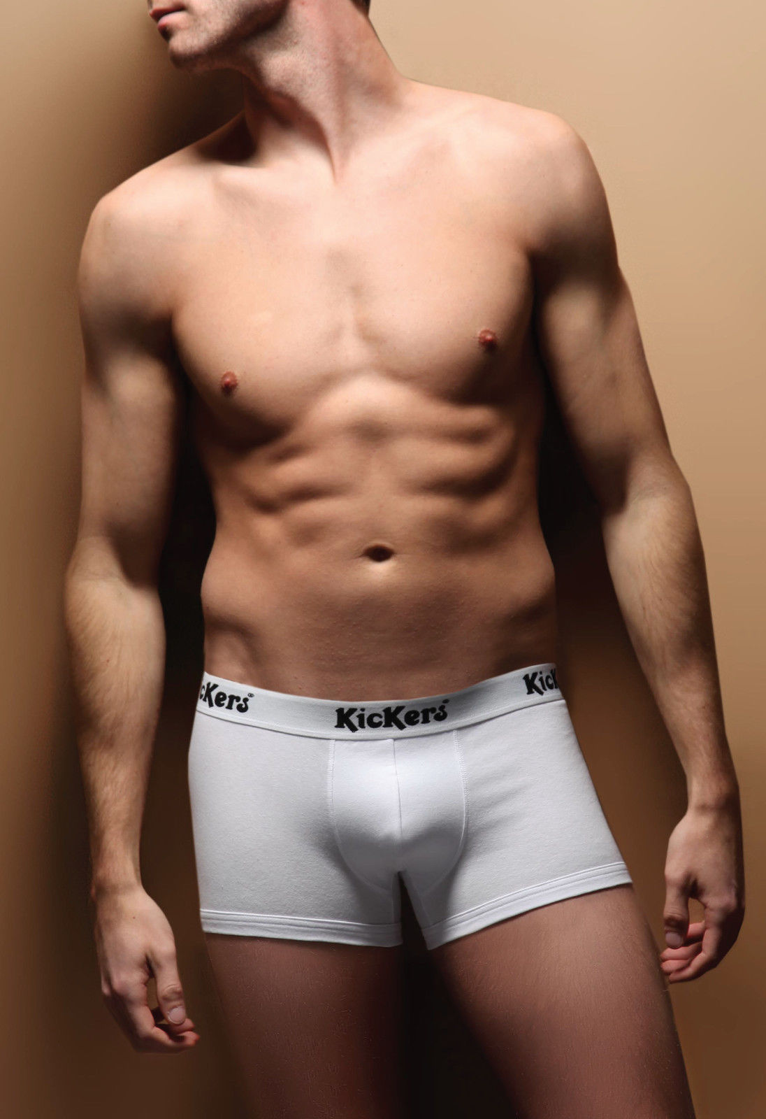 Mens Designer Kickers Trunks, Black or White, All Sizes