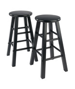 "Winsome Wood Contemporary Home 24"" Element Counter Stools, 2-Pc Set, Black - $81.68"