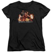 Mortal Kombat X - Scorpio Flames Short Sleeve Women's Tee Shirt Officially Licen - $19.99+