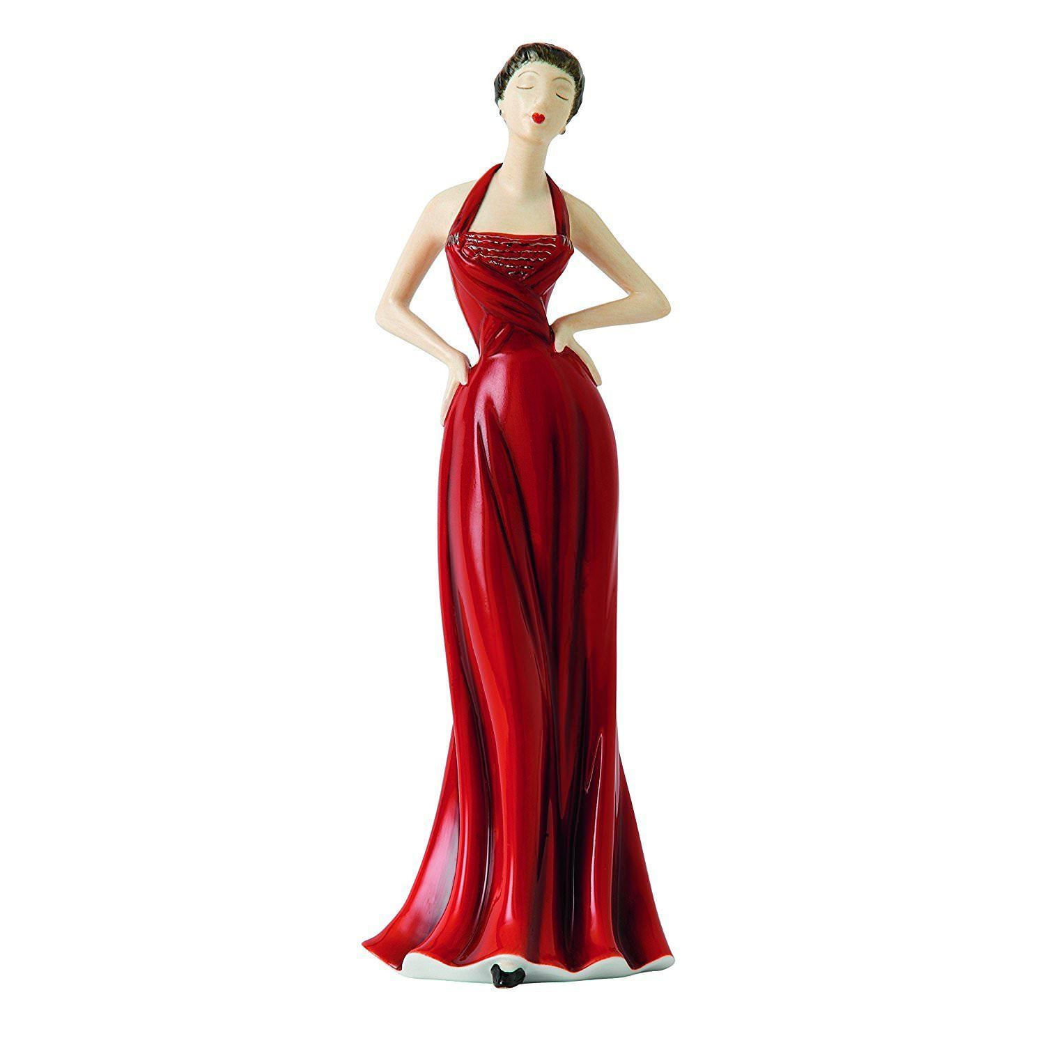 Royal Doulton Yolande Fashion Figurine 1950's Red Ball Gown V & A Museum NEW