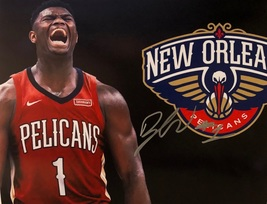 ZION WILLIAMSON AUTOGRAPHED Hand SIGNED 11x14 PHOTO New Orleans PELICANS... - £133.70 GBP