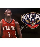 ZION WILLIAMSON AUTOGRAPHED Hand SIGNED 11x14 PHOTO New Orleans PELICANS... - £140.98 GBP