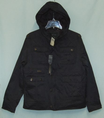 Sean John Brand Mens SJOAC830 1X Extra Large Black Jacket