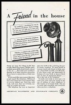 Candlestick Telephone A Friend In The House 1933 AT&T Early Communicatio... - $10.99