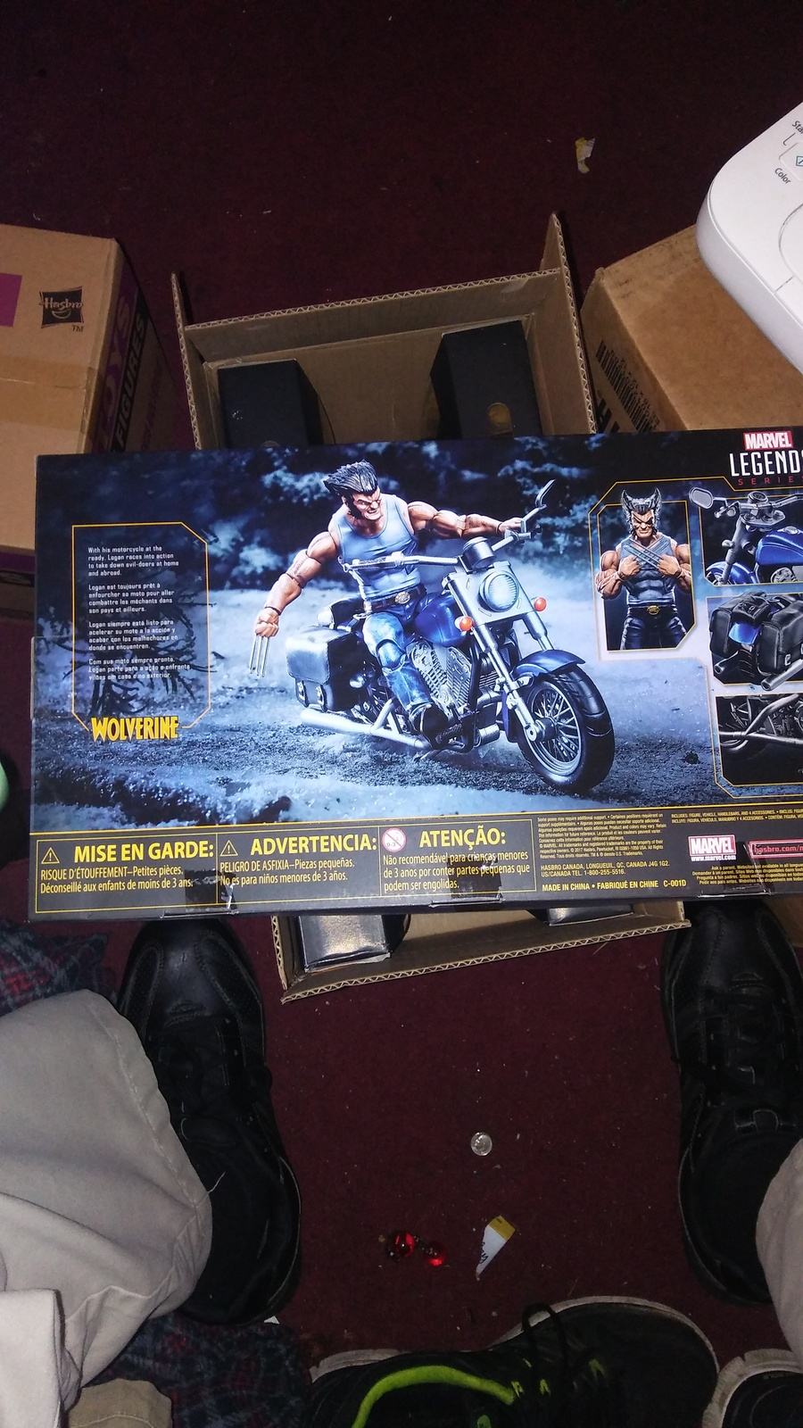 Marvel Legends Series 6-inch Wolverine with Motorcycle image 2