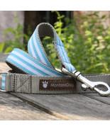 Mod Stripe Blue Grosgrain Dog Leash (120cm, 4ft.) / Made in Japan - $36.00