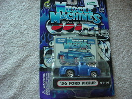 Muscle Machines '56 Ford Pickup 01-14 Blue Mip Free Usa Shipping - $11.29