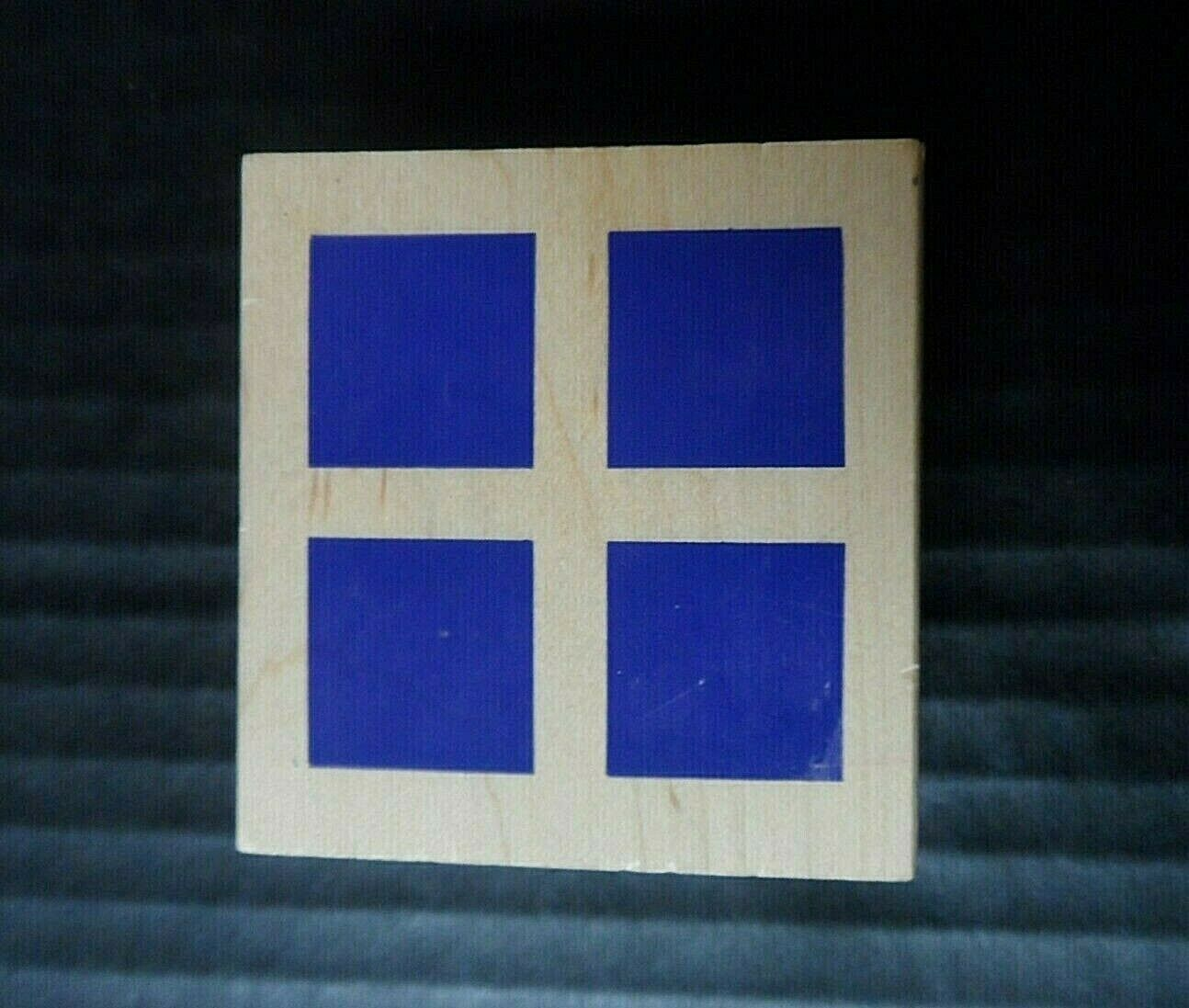 All Night Media Rubber Stamp Squares Four Square Backdrop Background - $11.09