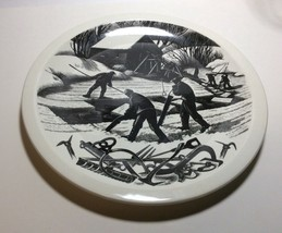 Wedgwood New England Industries Ice Cutting Plate by Clare Leighton - $79.18