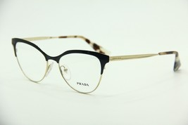 NEW PRADA PR 55S QE3-1O1 BLACK EYEGLASSES PR55S AUTHENTIC RX 52-16 - $153.34
