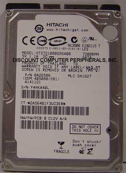 Hitachi hts721080g9sa00 new