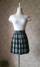Black White Plaid Skirt Women Girl Short Black and White Tartan Skirt Plus Size image 1