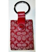 Coach Mini Signature Double Photo Keychain Key Fob 7383 Red EUC - $34.00