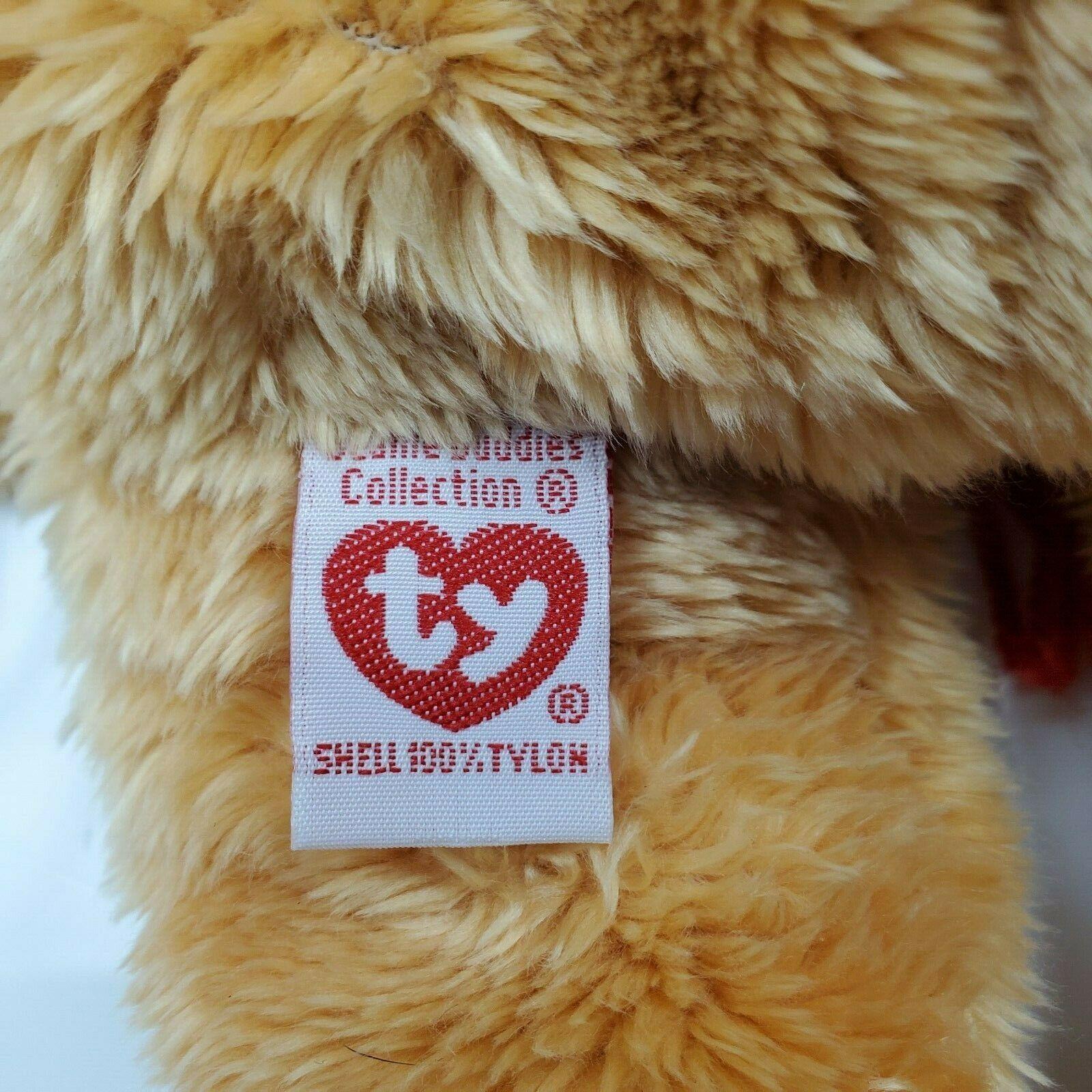 "Christmas Ty Beanie Buddies 2003 Holiday Teddy Bear 14"" Plush Retired New w/ Tag"