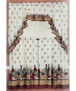 "3 pc. Kitchen Curtains Set:2 Tiers (30""x36"") & Swag (60""x36"") WINE & GRA... - $17.81"