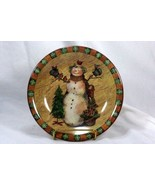 Certified International Country Snowman Salad Plate - $6.29