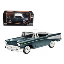1957 Chevrolet Bel Air Green 1/24 Diecast Model Car by Motormax 73228grn - $30.23