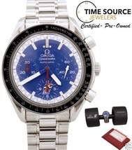 Omega Speedmaster Michael Schumacher Limited Racing Blue Auto 39mm B&P W... - $2,600.25