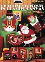 """Leisure Arts """"Picturing Christmas In Plastic Canvas"""" 9 Designs - Gently Used - $5.00"""