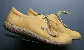 Women's BORN Wheat Nubuck Leather Casual Cool Oxford Sz. 40.5/9 MINTY! - $30.02