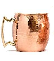 Rastogi Handicrafts Barrel Hammered Copper Moscow Mule Mug, 18 Oz - Hand... - $11.88