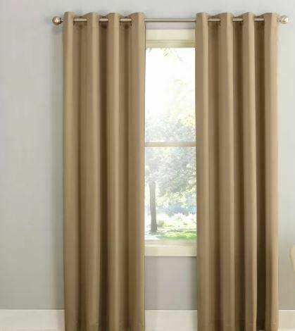 "Seymour Grommet Energy Efficient  Curtain Panel Taupe 54""x95""- Sun Zero"