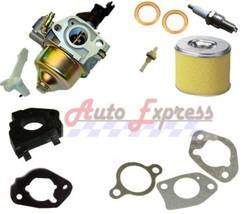 Honda GX160 Carburetor Gaskets Air Filter Spark Plug Petcock Spacer For ... - $23.50