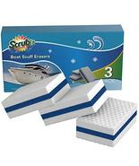 SCRUBIT Premium Boat Cleaner Sponge Set Boat Scuff Eraser Pads for Easy Cleaning - $8.99