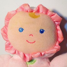 """Pink Baby Doll Plush Rattle Toy Kids Preferred Asthma Allergy Friendly Lovey 8"""" image 2"""
