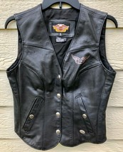 Harley Davidson Womens Motor Cycle Genuine Leather Vest - Size S (Made i... - $123.75