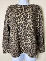 Banana Republic Womens Size M Animal Print Relaxed Lightweight Sweatshirt - $15.84