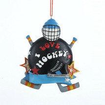 "Kurt Adler Resin ""I Love Hockey"" Hockey Theme Christmas Ornament - $9.88"