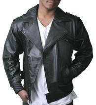 NEW Live Mechanics RFL Riders For Life Rockabilly Black Genuine Leather Jacket image 1