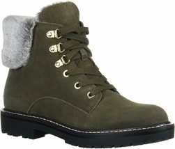 Womens Bandolino Footwear Lauria Winter Boot - Green Suede, Size 11 - $119.99
