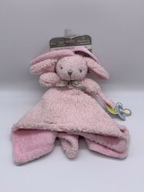 Blankets & and Beyond Pink Bunny Rabbit Security Blanket Lovey Nunu NWT - $21.46